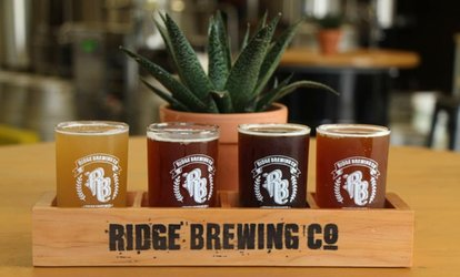 image for C$25 For Package for Two People at Ridge Brewing (C$39 Value)