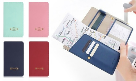 Up to Four Slim Passport and Travel Document Organiser in Choice of Colour