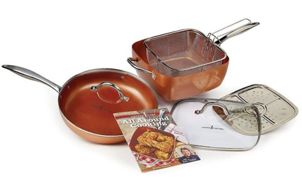 Copper Chef Cookware Set or American White Crock Bowl Set at Kitchen N' Restaurant