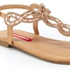 Unionbay Girl's Swirl Sandals with Jeweled Detail