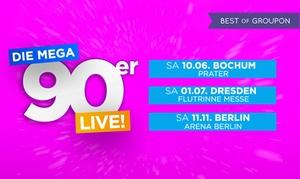 Mega 90er Party: Ticket für die Mega 90er Party mit Stars wie Snap!, Vengaboys oder Rednex in Bochum, Dresden oder Berlin (35% sparen)