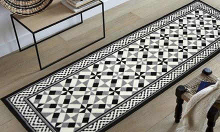 Tapis imitation carreaux de ciment, modèles, coloris et dimensions au choix dès 22,99€ (71% de réduction)