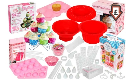 100-, 204- or 207-Piece Cake Baking and Decorating Set ...