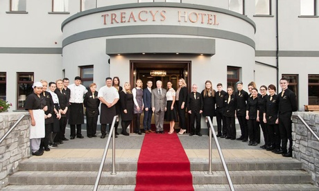 Co Monaghan: 1 or 2 Nights for Two with Breakfast, Dinner and Late Check-Out at 4* Treacys Hotel Monaghan