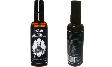 One, Two or Three 100ml Bottles of Oscar Fitzgerald Beard Oil
