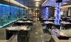Menu giapponese con barca sushi