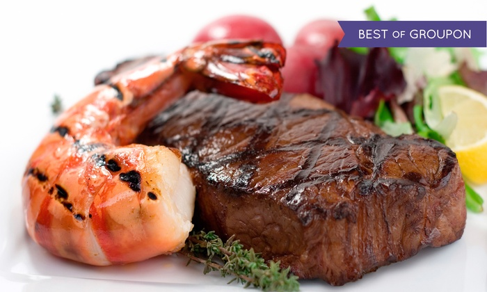 Portofino Ristorante - City Island: Surf 'n' Turf Dinner with Wine for Two or Four at Portofino Restaurant (Up to 58% Off)