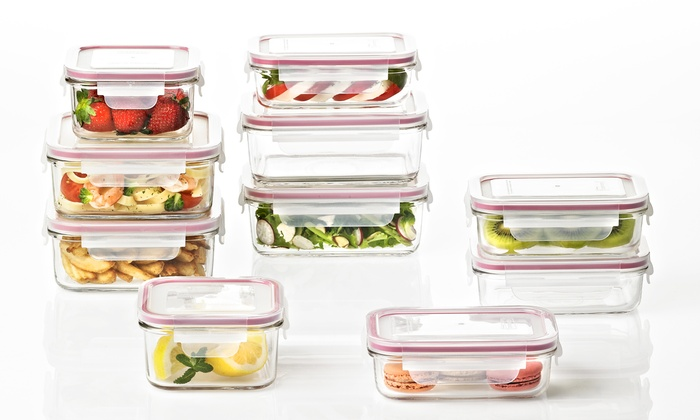 Delicieux Glasslock Meal Prep Food Storage Container Sets ...