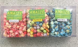 Amaize Gourment Corn Treats: Treats Gift Box: 1 with Pick-Up ($17), or 2 ($34) or 4 ($68) with Pick-Up or Delivery from Amaize Gourment Corn Treats
