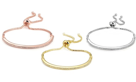 One, Two or Three Philip Jones Friendship Bracelets with Crystals from Swarovski®