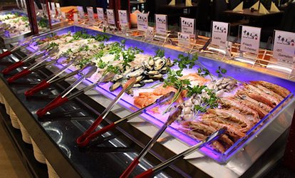 Asiatisches All-you-can-eat-Buffet inkl. All-you-can-drink für bis zu 4 Personen im Gourmet Palast (bis zu 20% sparen*)