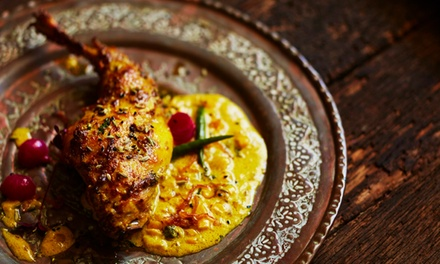 Two-Course Indian Dinner and Wine for One ($35) or Two People ($70) at Tandoori Club Kitchen & Bar (Up to $116.88 Value)