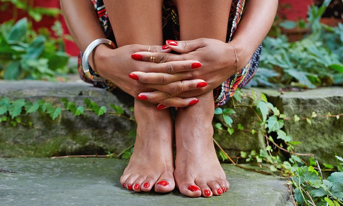 Impressions Salon & Spa - Impressions Salon & Spa: Gel Manicure and Spa Pedicure with Optional Scrub and Foot Massage at Impressions Salon & Spa (Up to 71% Off)