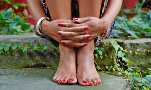 Impressions Salon & Spa: Gel Manicure and Spa Pedicure with Optional Scrub and Foot Massage at Impressions Salon & Spa (Up to 71% Off)