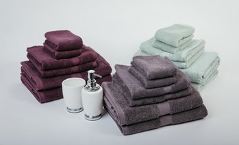 7-Piece 100% Combed Cotton Towel Set