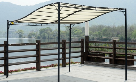 Outsunny Wall-Mounted Canopy With Free Delivery