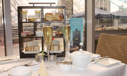 Afternoon Tea and Optional Sparkling Wine or Champagne for Two with Tower Bridge View at The Tower Hotel(50% Off)