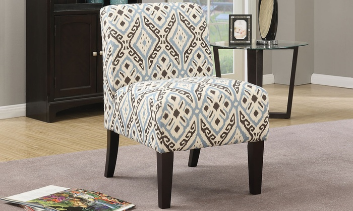 Acme Ollano Fabric Slipper Chair Groupon