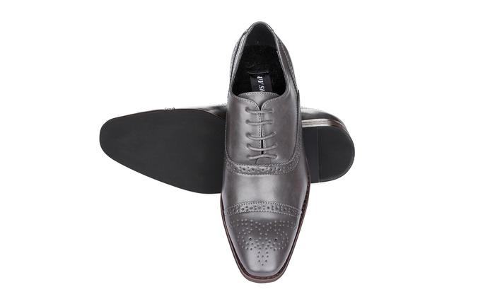 Signature Men S Brogue Cap Toe Dress Shoes