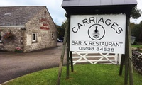 Two-Course Meal for Two or Four at Carriages Bar and Restaurant (Up to 51% Off)