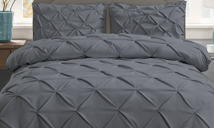 Diamond Embroidery Pintuck Quilt Cover Set: Queen ($39), King ($45), Super King ($59) (Don't Pay Up to $116.95)
