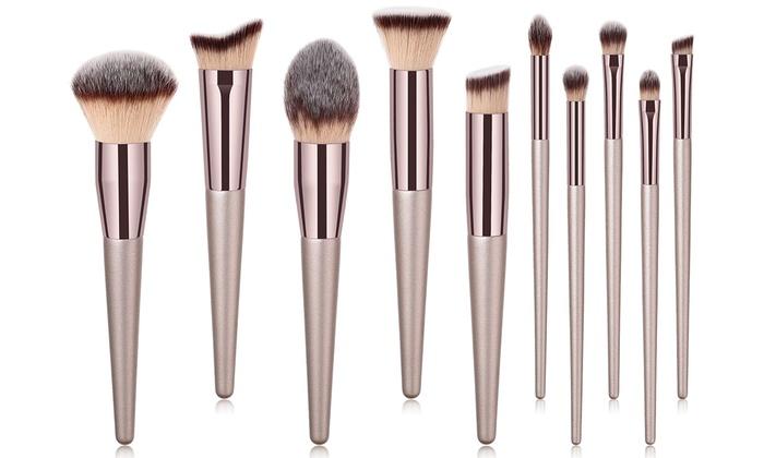 Makeup Brush Set (10-Piece) | Groupon Goods