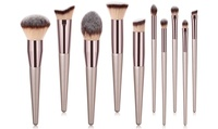 La Sante Professional Coffee-colored Glow Makeup Brush Set (10-Piece)