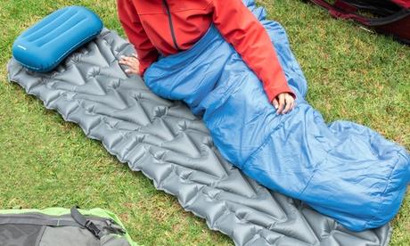 Cama de aire inflable y almohada ligera