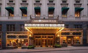 Historic 4-Star Hotel in Downtown Boston at Omni Parker House, plus 6.0% Cash Back from Ebates.