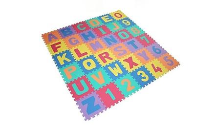 1 ou 2 tapis de jeux en mousse Puzzle 36 pièces chiffres et lettres