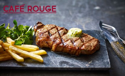 Choice of Main Course with Drinks for Two or Four at Café Rouge, Multiple Locations (Up to 50% Off)