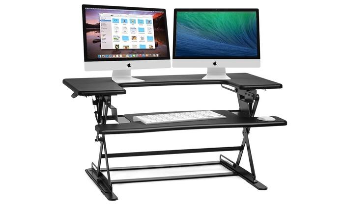 Up To 58 Off On Adjustable SitStand Desktop Groupon Goods
