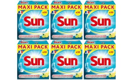 30 à 360 tablettes Sun Tout en Un Citron