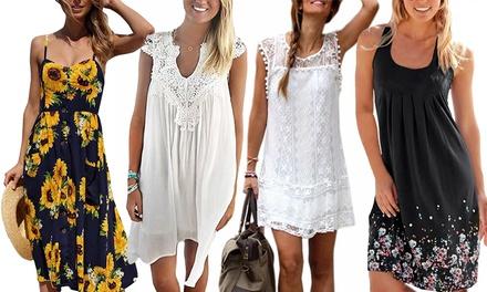 1 o 2 vestiti da spiaggia Bandana senza spalline disponibili in 4 colori