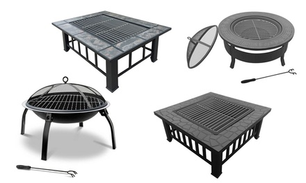 Outdoor garden patio fire pit groupon for Gardening 4 less groupon