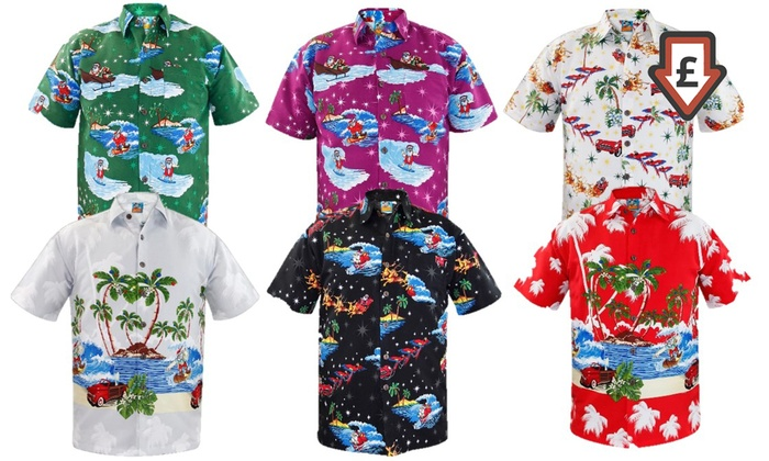 Men's Hawaiian Christmas Shirts | Groupon