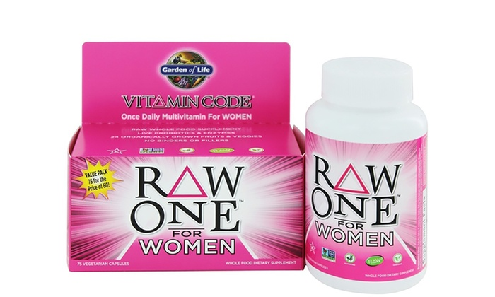 Garden of life vitamin code raw one multivitamin for women 75ct rss fashion styles for Garden of life vitamin code prenatal