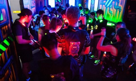 2Hr Laser Tag Pkg: TueThu Pkg $15, or FriSun Pkg $17.50 or 4 Ppl $67 at Darkzone Laser Tag & Events