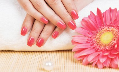 image for Pedicure, <strong>Gel</strong> Manicure, Full Set of Acrylics, or One or Three Mani-Pedis at A Lasting Touch (Up to 57% Off)