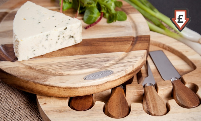 Natural Life Four-Piece Cheese Board Set for £9.98 (75% Off)
