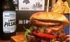 Brass Monkey - London: Burger, Chips and Bottle of Beer for One or Two at Brass Monkey (Up to 49% Off)