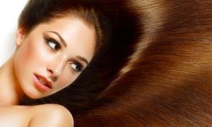 Urban Edge Hair And Beaute: Keratin Hair Straightening: 1($89) or 2 Treatments & RE+5 Shampoo as Gift($175) at Urban Edge Hair & Beaute (Up to $900)