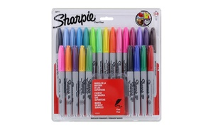 Sharpie Permanent Markers, Fine Point, Assorted Colors (24-Count)