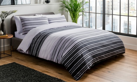 Pieridae Textured Stripe Duvet Cover Set