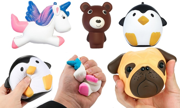 One, Two or Four Slow-Rising Giant Animal Squishy Toys for £4.99