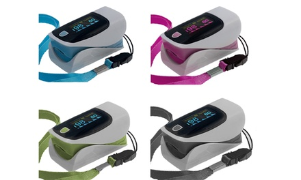 SmartPulse Advanced Fingertip Pulse Oximeter with Neck/Wrist Cord