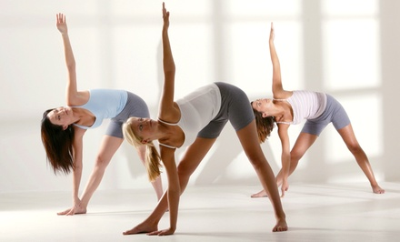 One Month of Unlimited Yoga Classes or Five Yoga Classes at Yoga Center (Up to 53% Off)
