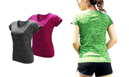 1x oder 2x Sportliches T-Shirt für Damen in der Farbe nach Wahl (bis zu 78% sparen*)