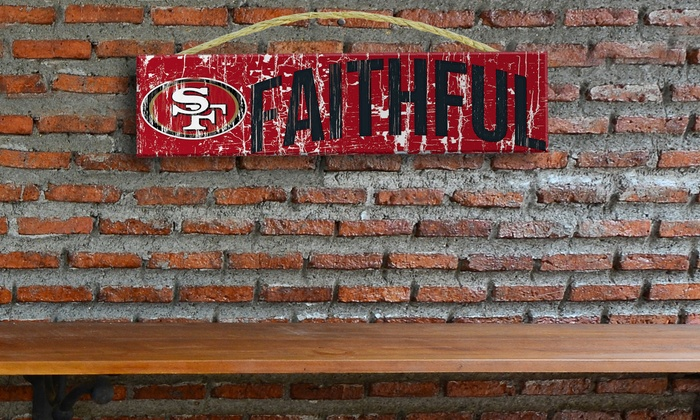 "San Francisco 49ers 24"" Slogan Sign: San Francisco 49ers 24"" Slogan Sign"