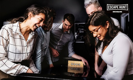 Weekday Escape Game for Two $49, Three $69, Four $89 or Five People $109 at Escape Hunt Brisbane Up to $180